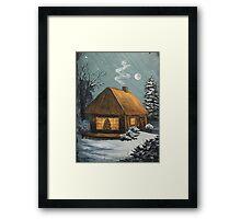 Winter Cottage Framed Print