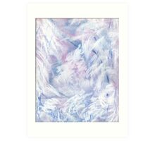 Snowstorm - abstract winter landscape Art Print