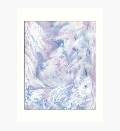 Snowstorm - abstract winter landscape Art Print