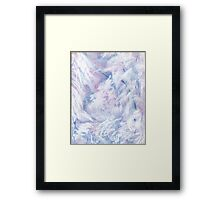 Snowstorm - abstract winter landscape Framed Print
