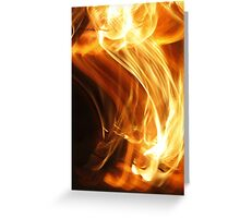Fire Flame Greeting Card