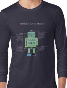 Anatomy of a Robot (Green) Long Sleeve T-Shirt