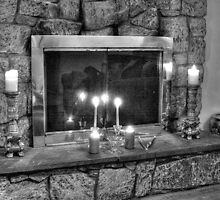 Fireplace B&W by henuly1