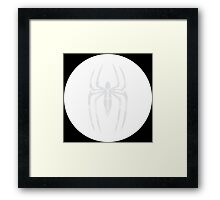 Black Suit Spider-Man Segmented Logo (white) Circle Framed Print