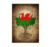 Tree of Life with Welsh Flag Art Print