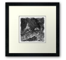 The Atlas of Dreams - Plate 7 (b&w) Framed Print