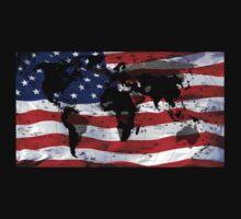 American Flag Map by Fred Seghetti