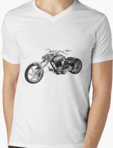 Dragon Rider Bike Mens V-Neck T-Shirt