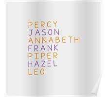 Percy Jackson Group Names Poster