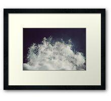 Bright Cloud, Dark Sky Framed Print
