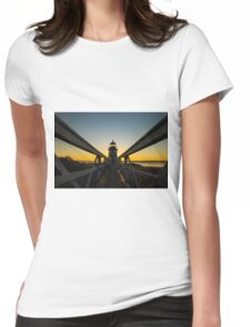 Brant Point Lighthouse Womens Fitted T-Shirt