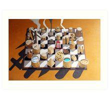 Surreal Chess Art Print