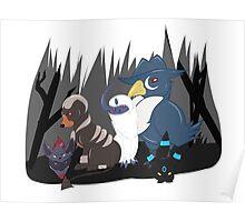 Dark-Type Pokemon Poster