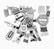 Aztec God Tezcatlipoca by Smaragdas