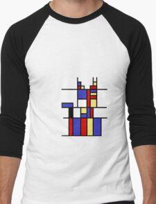 Mondrian's cat Men's Baseball ¾ T-Shirt