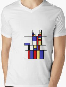 Mondrian's cat Mens V-Neck T-Shirt