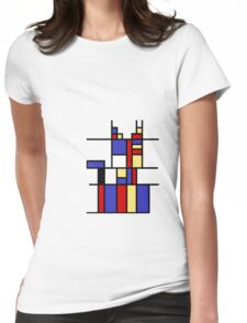Mondrian's cat Womens Fitted T-Shirt