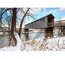 Thompson Mill Covered Bridge Photographic Print