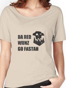 Da Red Wunz go Fastah Women's Relaxed Fit T-Shirt