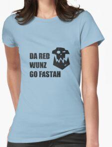 Da Red Wunz go Fastah Womens Fitted T-Shirt