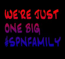 We're Just One Big SPN Family - red and blue by LaterSocialLife