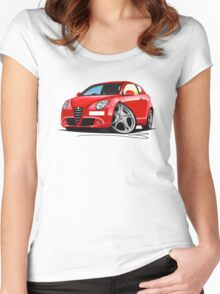 Alfa Romeo MiTo Red Women's Fitted Scoop T-Shirt