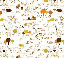 Animal Pattern Series – Safari Wildlife by onocreates