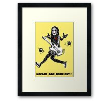 Noface can ROCK OUT! Framed Print