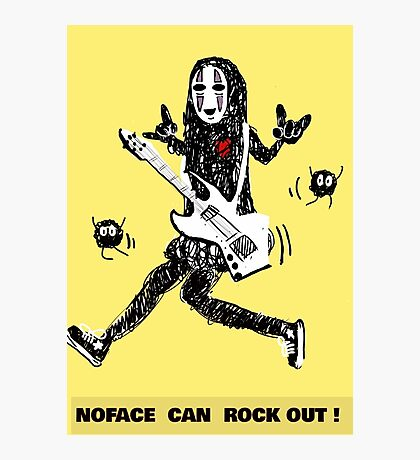 Noface can ROCK OUT! Photographic Print