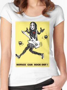 Noface can ROCK OUT! Women's Fitted Scoop T-Shirt