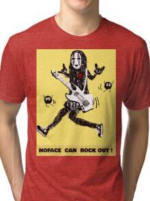 Noface can ROCK OUT! Tri-blend T-Shirt