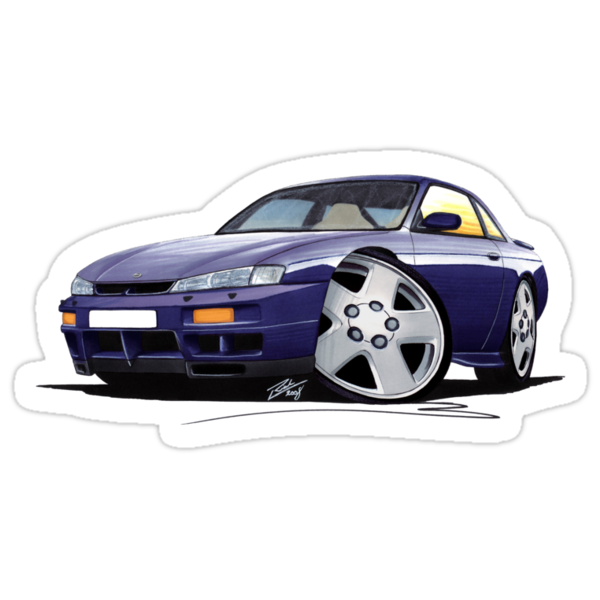 Nissan 200SX S14 Purple by Richard Yeomans