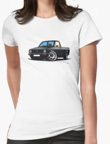 VW Caddy Black Womens Fitted T-Shirt