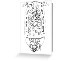 haunted lady Greeting Card