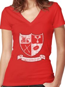 A Geek, Rampant! Women's Fitted V-Neck T-Shirt