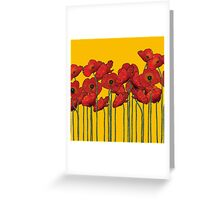 Poppies Yellow Greeting Card