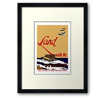 Land With The US Marines Framed Print