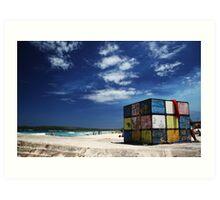 Rubiks Cube at Maroubra Art Print
