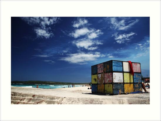 Rubiks Cube at Maroubra by yolanda