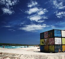 Rubiks Cube at Maroubra by yolanda