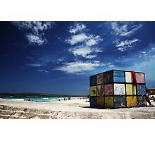 Rubiks Cube at Maroubra Photographic Print