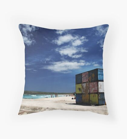 Rubiks Cube at Maroubra Throw Pillow