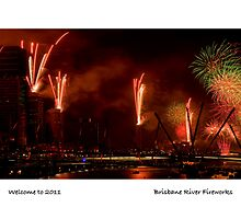 Brisbane River Fireworks by ken47