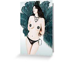 Samantha Burlesque Doll Greeting Card