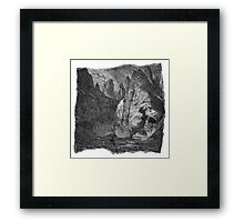 The Atlas of Dreams - Plate 9 (b&w) Framed Print
