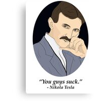Tesla's SFW Feelings Canvas Print
