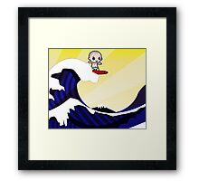 Surfing Hokusai Famous Wave Framed Print