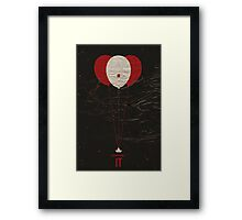 """Vintage Movie Poster Inspired by Stephen King's """"IT"""" Framed Print"""