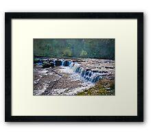 The Upper Falls - Aysgarth. Framed Print