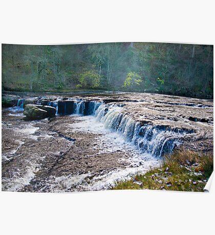 The Upper Falls - Aysgarth. Poster
